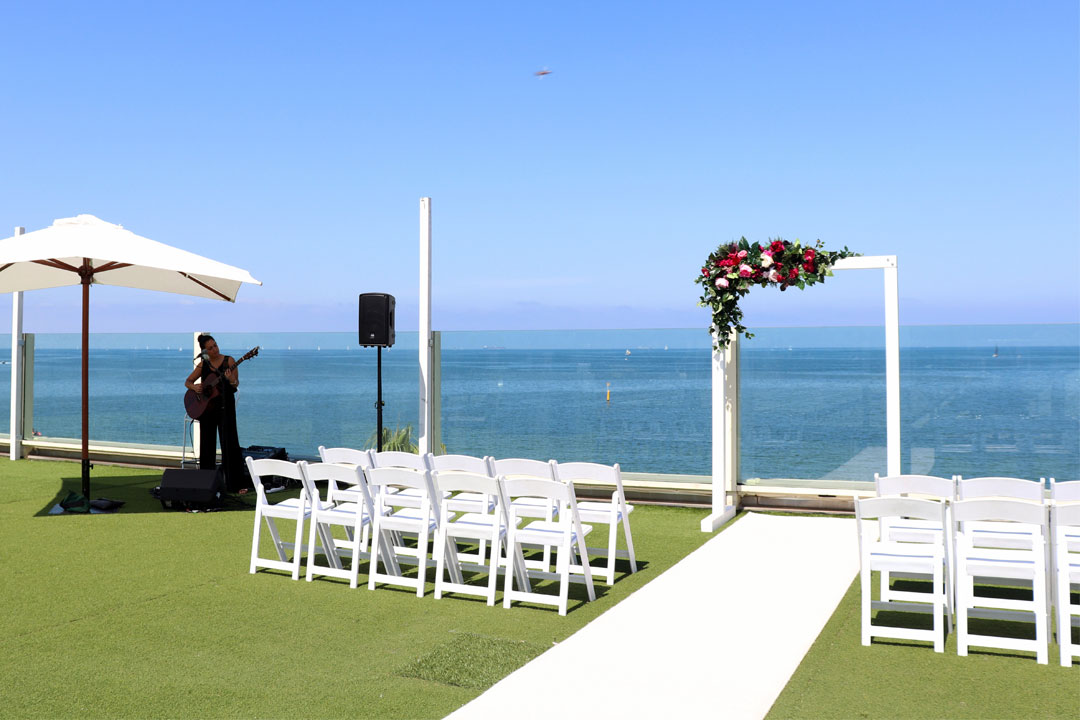 Encore St Kilda Beach Port Phillip Bay wedding beach ceremony